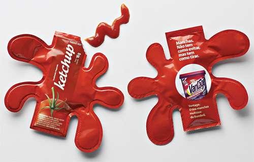 Packaging creativo de ketchup