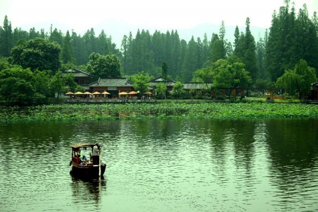 Lago oeste de Hanzhu (China)