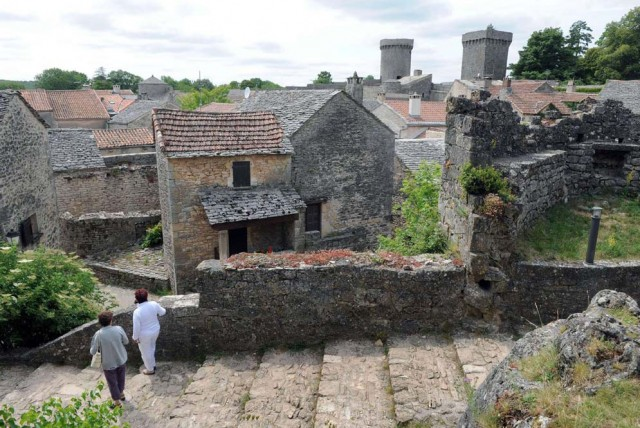 Paisaje de Causses y Cévennes (sur de Francia)